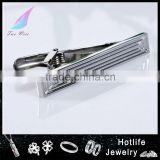 Men fashion jewelry high quality stripe blank tie clip/tie bar for business