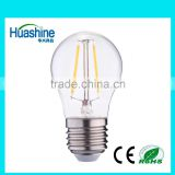 2016 high lumen G45 E27 filament G45-2 2W led filament bulb led bulb lamp led filament bulb