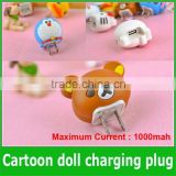 Portable Lovely Cute Cartoon USB Power AC Wall Plug Converter Adapter Charger For Mobile Phones Ipad US&European plug