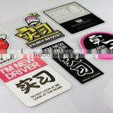 Heat Resistant Custom Plastic Material and Logo / Badge Type car window decal Printed magnetic car signs--DH20450