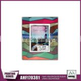 Coloful Paper Printing MDF Photo Frame With White Frame,Handmade Popular Decorative Picture Frame
