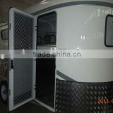 Aluminum caravan Door for 2 Horse trailer float with steel cupboard