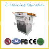 For classroom popular platfrom hot selling steel shape podium lectern