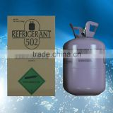 Mixed refrigerant gas R-502 with disposable cylinder package