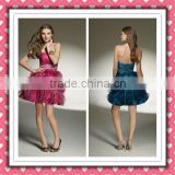 2012 New Arrival Stylish Beauty Organza Red Puff Lovely Homecoming Dress Cocktail Dress Made In Alibaba MLC-133