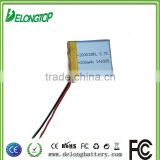 Manufacture 3.7V rechargeable battery 200mah small battery for MP4