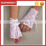 A-744 Wedding Lace Fingerless Gloves Boho Lace Wrist Cuff Bracelet Bridal Bohemian Lace Wristband