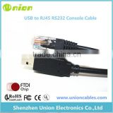 FTDI USB to serial RS232 console rollover cable for Cisco routers