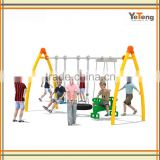 GS Galvanized Steel Double Children Swing Sets For Supermarket