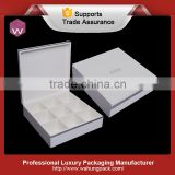 Custom White Wooden Tea Bag Packaging Box With 9 Compartments