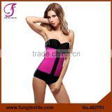 4027 SGS Certification Approved 2015 New Sexy Pink Steel Boned Waist Latex Rubber Corset Underbust