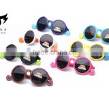 2016 New design Kids silicone polarized sunglasses fashion children sunglasses