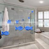 best selling colorful acrylic fish wall decorative mirror sticker cartoon fish