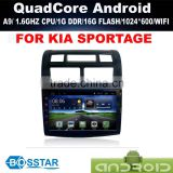 A9 Dashboard quad core android 4.4 2din car radio for KIA SPORTAGE withgps bluetooth steering wheel control dvr obd