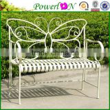 Sale Antique Folding Wrought Iron Butterfly Shape Outdoor Bench For Outdoor Garden Backyard I24M TS05 X11B PL08-10285CP