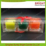 Scented Votive Glass Filled Art Candles Sets