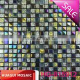 15*15*8mm Beautiful silver bump glass mix ceramic mosaic tile for interior mural decoration