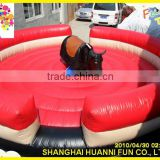 Inflatable Interactive adult wipe out games Mechanical bull rodeo