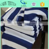 5 Star Hotel Spiral White and Blue Beach Towels