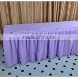 100%polyester jersey stretch table skirting party polyester table skirting for banquet and weddings