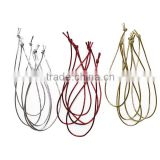 colours elastic ties loop cord for tag