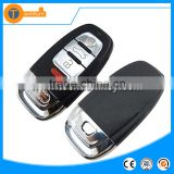 3+1 button smart key cover HU66 blade with battery clamp For Audi remote key