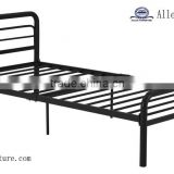 bedroom furniture silver/black metal adult twin size bed with round tubing Simple design cheap