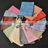 China Suppliers Various Colors Thickening Linen Bag,Small Jute Bag With Cheap Price