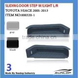 toyota hiace parts sliding door step with light #000320-1 sliding door step for hiace van,commuter,KDH200