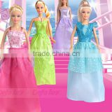 Plastic Vinyl Kids Dolls Fashion Royalty Dolls With AZO FREE Dresses Accessories