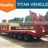 TITAN 4 axle100 tons low bed trailer for sale , 4 axle low bed trailer , 4 axles lowbed semi trailer