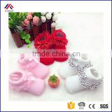 Cute Toddlers Infants Cotton Ankle Bow Baby Girls Princess Bowknots Lace Socks for 0-6 Months