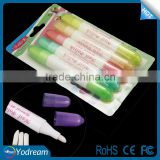5pc/set Nail Art Corrector Pen Remove Mistakes + 15 Tips Newest Nail Polish Corrector Pen Cleaner Erase Manicure tool