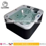 Most Fashion Promotion lucite acrylic spa bath tub with CE approved for 3 aud adults