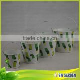 Popular Porcelain Metal Practical Indoor Wholesale Plant Pots