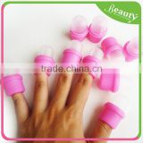 10Pcs Wearable Nail Soak Cap Acrylic Nail Polish Remover