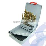 19 Piece High Quality Titanium Coated HSS Split Point Drill Bit Set for Woodworking Tools