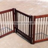 2016 foldable wooden pet dogs gate with good quality and competive price PRS-G016