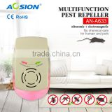 Home use multifunctional electromagnetic ultrasonic pest repeller