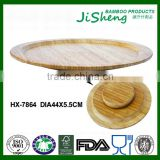 Factory Sales Bamboo Round Lazy Susan Turntable