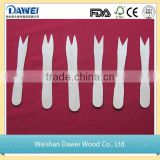 Dawei hot sale disposable wooden cutlery spoon fork knife