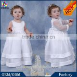 Newborn Baby Clothing with Jacket Infant Dress Pure White Summer Satin Dress For Kids