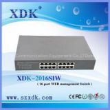 16 port web smart managed power over ethernet switch
