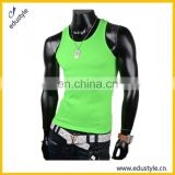 2017 Stylish 80 Cotton 20 Poly Blank Long Tank Tops Men