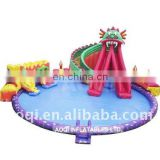 Large inflatable water park