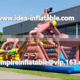 Inflatable pirate obstacle course, PVC type inflatable amusement park ID-OB002