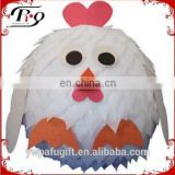 party hanging decoration white chicken shaped paper pinata