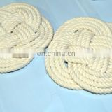Nautical Rope Coaster hand-tied nautical rope coaster cotton rope coaster