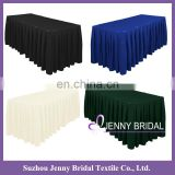 TS010V wholesale banquet white tablecloth table skirting design