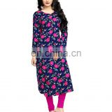 Women Casual Wear Rayon Soft Cotton Floral Printed Kurti (Party Wear Tops)